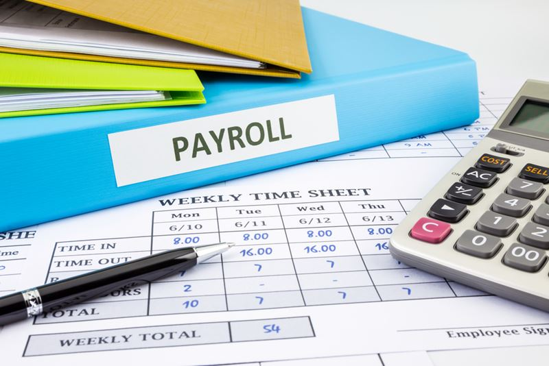 Calculator and Payroll Paper